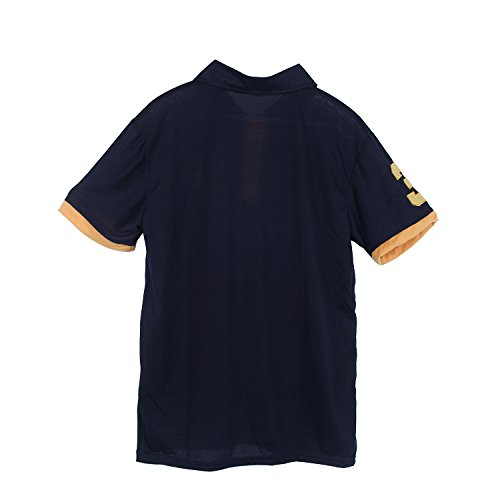niceEshop(TM) Mann Kurz Ärmel Slim Fit Poloshirt Dunkelblau