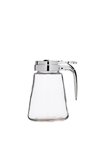 Kitchen Craft Tropffreie Glas Sirup/Honig Spender Krug, 330 ml (0,5 Pint) - Klar