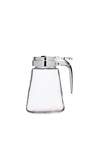 Kitchen Craft-Jarra de Cristal para sirope/dispensador de Miel antigoteo, 330ml (0,5litro), Transparente