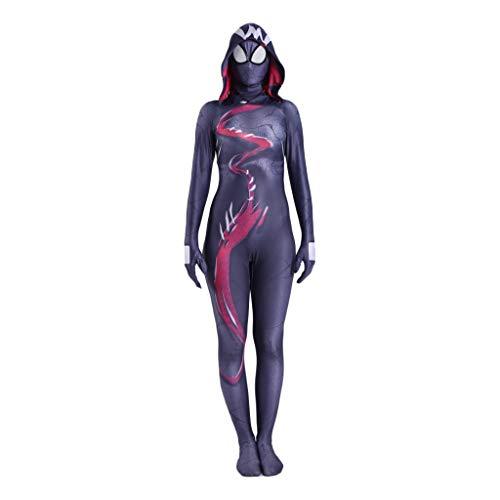 Mann Kostüm Spider Gwen - QWEASZER Spider-Gwen Spiderman-Kostüm, Spider-Gwen Spiderman Cosplay Kostüm für Erwachsene Kostüm für Erwachsene Rollenspiel Kleidung Body Spandex Jumpsuits,Gwen-XL