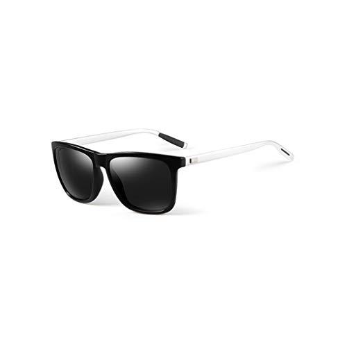 RJYJ Herren Polarisierte Sonnenbrille, Full Frame Retro Sonnenbrille PC Objektiv (Color : Black)