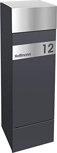 frabox Design Paketkasten Namur Edition Edelstahl/Anthrazitgrau