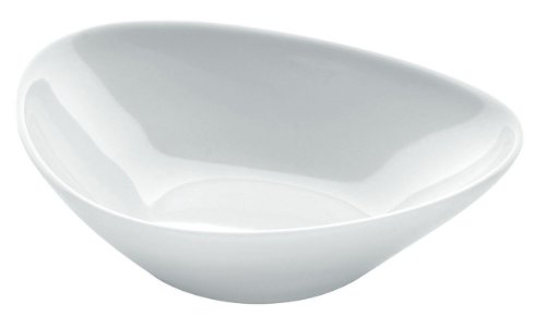 Alessi Fm10/54 S Colombina Collection Coupelle Basse en Porcelaine Blanche, Set de 6 Pièces