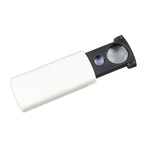 EUROXANTY Taschenlupe mit LED- und UV-Licht mit Linse 21 mm 9 mm Vergrößerung 20X 45X Schmuck