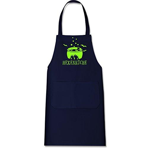 Shirtracer Küche - Hexenküche - 80 cm x 73 cm (H x B) - Navy Blau - X967 - Kochschürze mit Tasche (Lustig 2019 Kostüm Ideen)