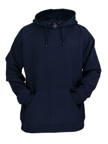 URBAN CLASSICS - BLANK HOODY - NAVY (Hoody Navy Blauer Pullover Sweatshirt)