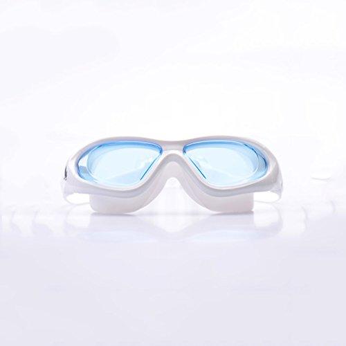 William 337 Professionelle Anti-Fog-Schwimmen-Schutzbrillen, die Schwimmen-Glas-Mann-Frauen-Schwimmen-Brillen beschichten (Farbe : C)