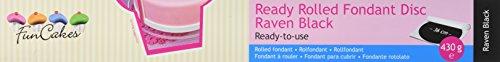 FunCakes Ready Rolled Fondant Disc -Raven black, 1er Pack (1 x 430 g)