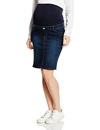ESPRIT Maternity Damen Umstandsrock Skirt Denim Otb Mid M84220, Blau (Blue (Darkwash 910) 910), 40 (Faded Jean Rock Denim)