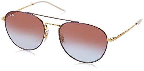RAYBAN JUNIOR Damen Sonnenbrille RB3589 Gold Top On Violet/Lightbluegradientviolet 55