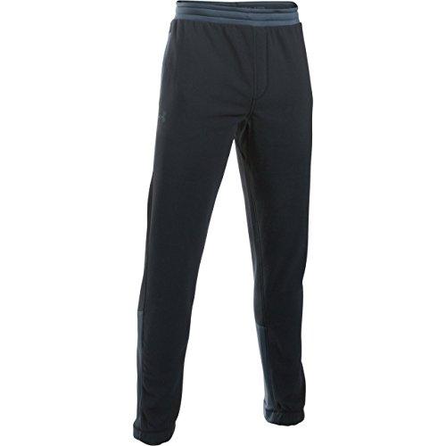 Under Armour Herren ColdGear Infrared Fleece Pants, Herren, Black (001)/Stealth Gray, Large -