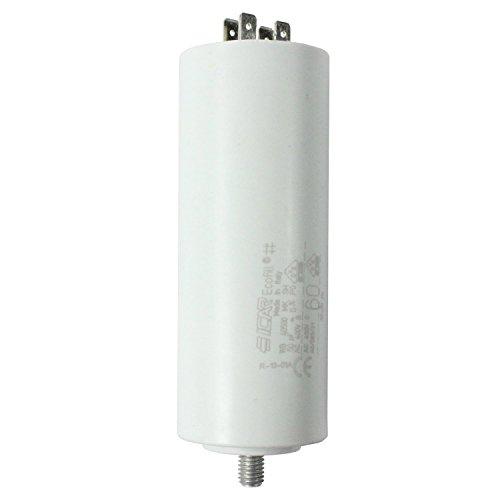 Preisvergleich Produktbild spares2go Start Run Motor Kondensatoren für Smeg Geräte 331.1321 5uF MF zu 80uF Spaten Connector / Tags 60UF