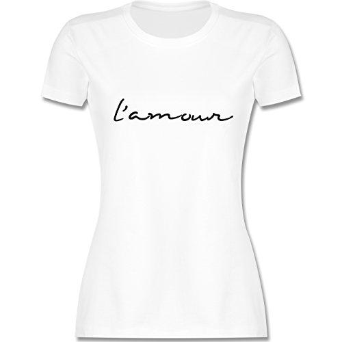 Statement Shirts - l'amour Liebe - tailliertes Premium T-Shirt mit  Rundhalsausschnitt für
