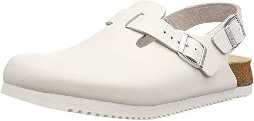 Birkenstock Tokio Leder, Unisex-Erwachsene Clogs, Weiß (Weiß), 41 EU