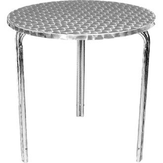 Giardino/Patio Bistro-Tavolo rotondo in acciaio inox con bordo curvo diametro: