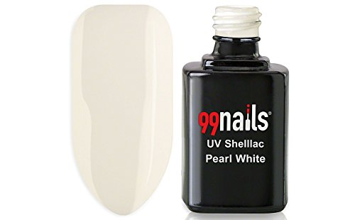 99nails Shellac Pearl White 1er Pack (1 x 12 ml) Made in Germany UV Shellac UV Nagellack Schellack Gellack Weiß