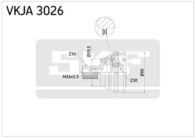 Skf Vkja Joint Homocinétique 3026 Vkja3026 Modèle Kit vmN8wn0