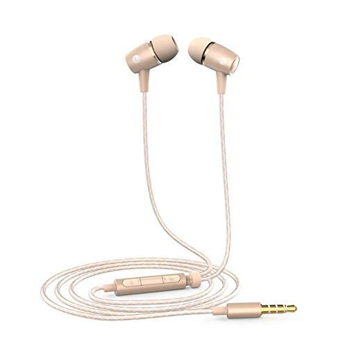 pfhörer bass, Dewanxin für Honor AM12 Plus Kopfhörer in ears kopfhörer kopfhoerer in ear bass inklusive mit Mikrofon control verdrahtete 3,5mm headset für iPhone, Android, MP3 ()