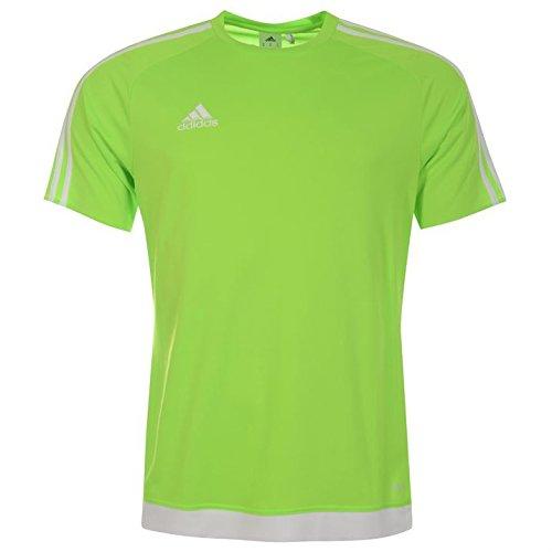 Adidas Estro Herren T-Shirt, 3Streifen, mit kurzen Ärmeln, Climalite Small Solar Green