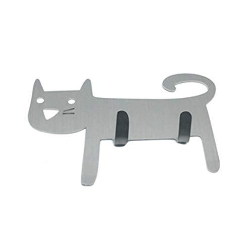 traline Animal Cartoon Dekorative Haken Wall 2 Haken Handtuch Hanger Coat Schlüssel Taschen Halter-Küche-Badezimmer-Dekor