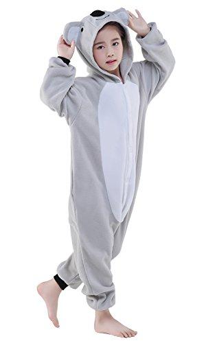 Tier Karton Pyjama Kinder Tier kostüme Jumpsuit Erwachsene Schlafanzug Unisex Cosplay Kostüm (Grey Koala, 125: 134-145cm)