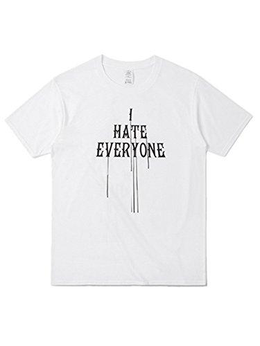 BOMOVO Herren T-shirt Crew Neck Slim Fit Weiß