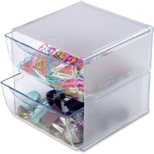 2 Schubladen Cube (deflect-o Organiser-System CUBE /DE350101 glasklar 2 Schubladen)