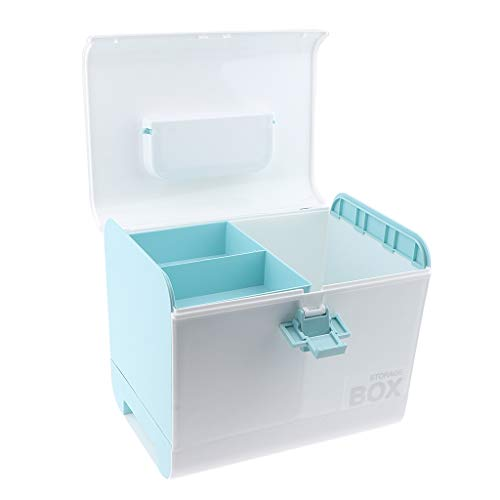 B Baosity Erste Hilfe-Aufbewahrungskasten Medizinkoffer, Erste Hilfe Koffer, Tragegriff, 27 x 20 x 23 cm - Blau
