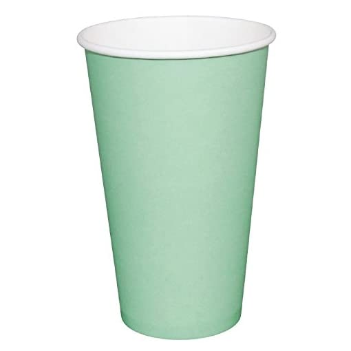 Fiesta GP403 Takeaway Coffee Cups, Single Wall, 8 oz., Turquoise (Pack of 1000)