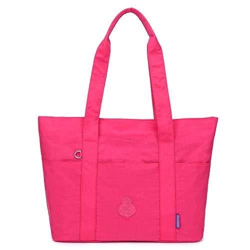 Nylon Tuch große Handtasche Neue wasserdichte Handtasche Mode einzelne Schulter Diagonale Tasche weiblichen Beutel Rose rot