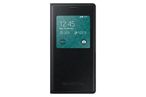 Samsung S-View Hülle Case Cover für Samsung Galaxy S5 Mini - Schwarz