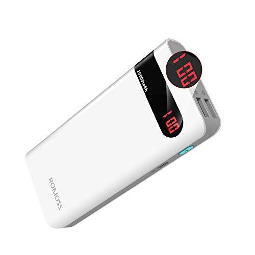 Romoss Batterie Externe 10000 mAh, Power Bank avec...