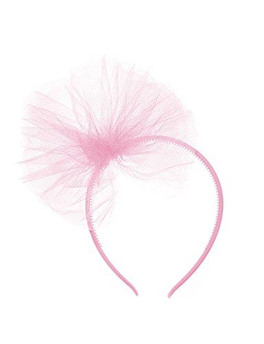 Disney Haarreif mit Tüllschleife für Mädchen - Hellrosa