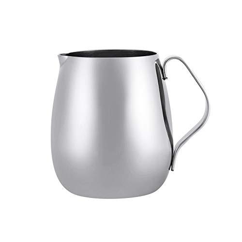 Espresso Dampfende Milch (Espresso dampfende Krüge, Edelstahl Kaffeekanne Milchaufschäumungstopf Espresso Latte Art Style Pitcher (350ML))