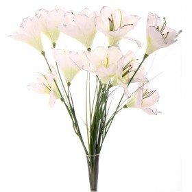 Preisvergleich Produktbild Amaryllis Strauß mit Gras, 10 Blüten, 44 cm - Crémefarben (künstlich)