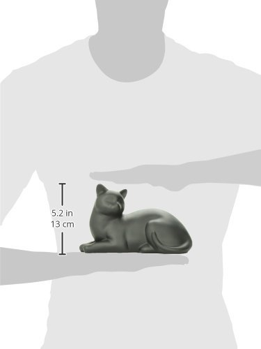Near & Dear Pet Memorials Cozy Cat Resin Cremation Urn, 25 Cubic Inch, Black 2