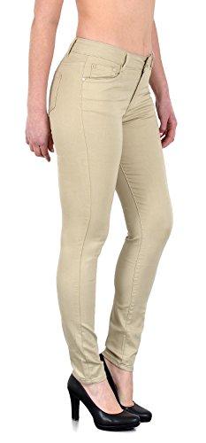 ESRA Damen Stretch Hose Skinny Stoffhose High Waist Hose in Vier Farben bis Übergröße 52, 54, 56, 58 H520