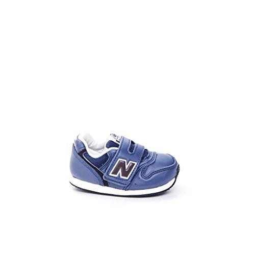 NEW BALANCE - Scarpa ginnica grigia, in pelle e microfibra, con chiusura a strappo, logo laterale e posteriore, Bambino, Ragazzo-25