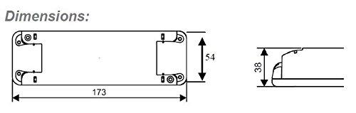0W - 60W Dimmbar LED Treiber Konstant Voltzahl 12VDC, elektronischer LED-Trafo, Dimmable LED Driver, model TE60W, for 12Vdc LED tapes / strips and LED lamps - 2