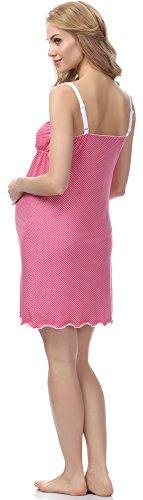 Be Mammy Maternité Chemise de Nuit Femme BE20-141 Rose