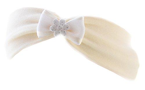 Stirnband Baby SET Strumpfhose /& Haarband 56 62 68 74 86 Kopfschmuck Weiß Taufe