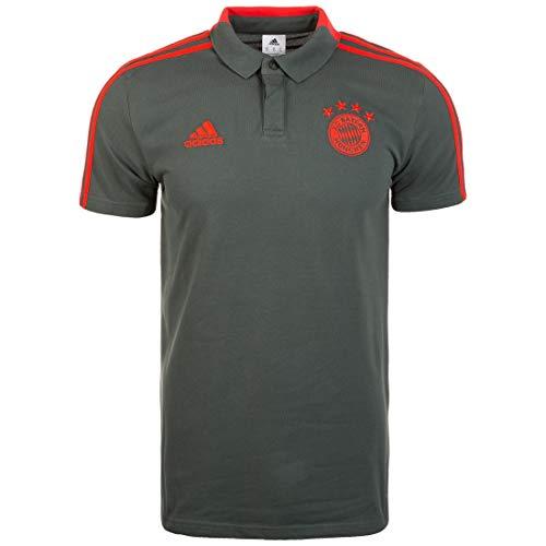 adidas Herren 18/19 FC Bayern Cotton Poloshirt, Utility ivy/Red, M