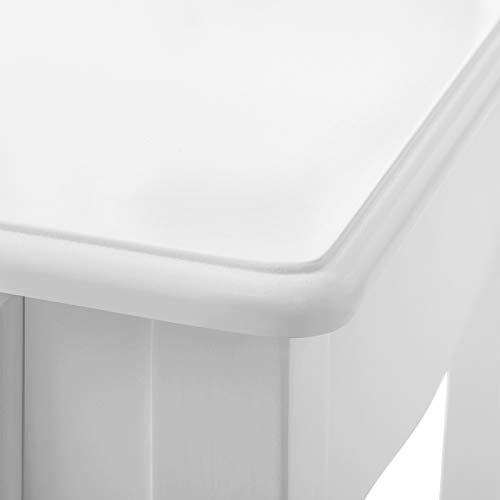 Songmics Schminktisch 3 Spiegel mit Hocker u. 4 Schubladen inkl. 2 Stück Unterteiler, Kippsicherung,weiß RDT07W - 5