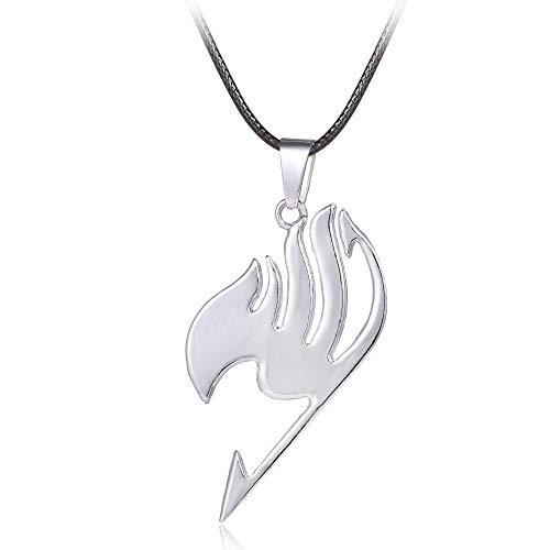 �r Herren Fairy Tail Logo Metal Halskette Cosplay Schmuck Anime Figure Pendant Accessoires Fairytail Gift ()