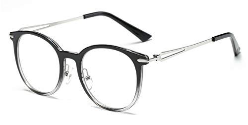 JIUPO Unisex Brille Ohne Sehstärke Light Gewicht Retro Brillenfassung Klare Linse Vintage Runden Brillen