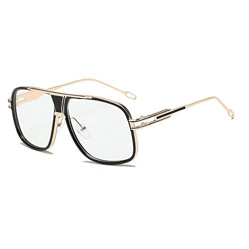 babyhome Lunettes femmes,Homebaby lunettes rétro ronde cadre Lunettes à verres transparents UV400 Wayfarers nerd à monture d'écaille vintage inspirées Lunettes de Soleil UV400