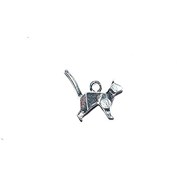 Colibri origami m/étal 31x27 mm argent/é x5