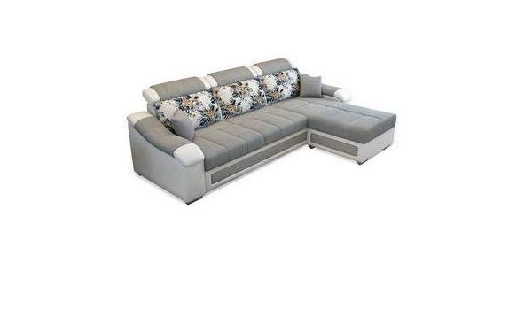 Cool Lillyput Interio Hardwood Modern L Shape Fabric Sofa Standard Size White Grey Machost Co Dining Chair Design Ideas Machostcouk