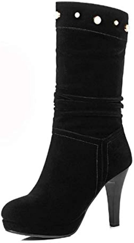 KOKQSX-le donne di stivali in autunno autunno autunno e inverno tallone mezzo tubo stivali smerigliato tacco alto 9cm le scarpe...   Spaccio    Scolaro/Ragazze Scarpa  c6e9a1