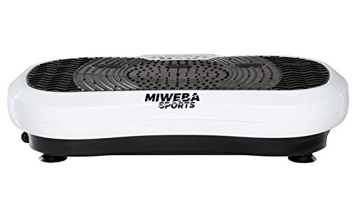 Miweba Sports Fitness 2D Vibrationsplatte MV100-3 multidimensionale Vibrationszonen - Oszillierend - 250 Watt (Weiß)